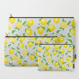 You're the Zest - Lemons on White Carry-All Pouch