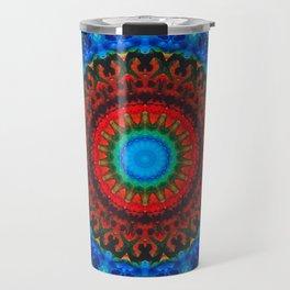 Inner Peace - Kaliedescope Mandala By Sharon Cummings Travel Mug