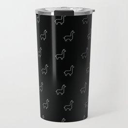 Baesic Llama Pattern (Black) Travel Mug