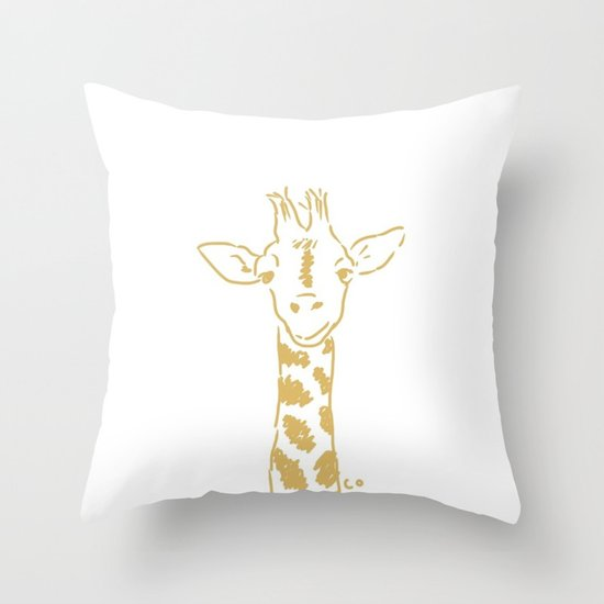 Georgia the Giraffe Throw Pillow