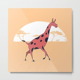 Majestic Giraffe Metal Print