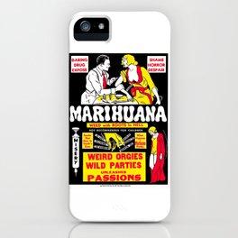 Marijuana Poster (Reefer Madness) iPhone Case
