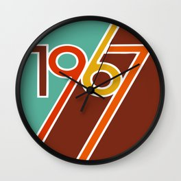 VINTAGE 1967 Pop Art by BruceALMIGHTY Wall Clock