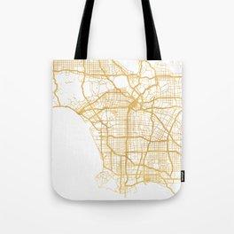LOS ANGELES CALIFORNIA CITY STREET MAP ART Tote Bag
