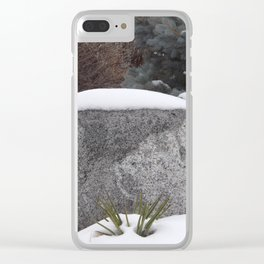 Snowcapped Clear iPhone Case