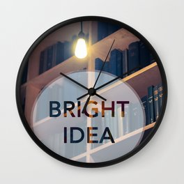 A Bright Idea Wall Clock