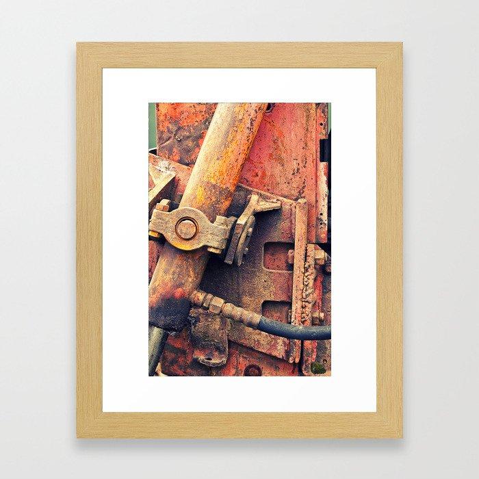 Old rusty iron piece Framed Art Print