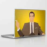 mad men Laptop & iPad Skins featuring Don Draper - Mad Men by Tom Storrer