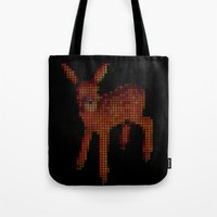 bambi Tote Bags featuring Bambi by Krizan