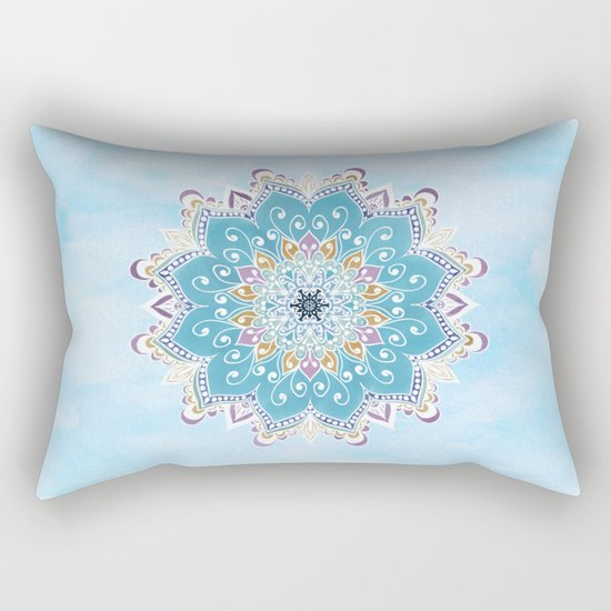 MAGIC FLOWER MANDALA Rectangular Pillow