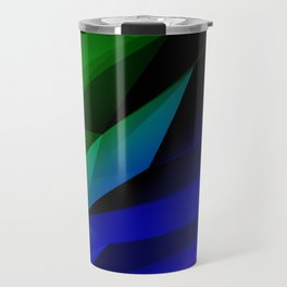 Geo Green and Blue Travel Mug