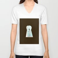 psycho V-neck T-shirts featuring PSYCHO by The Bravo Sisters Art