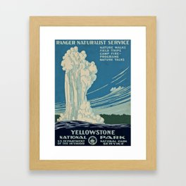 Yellowstone Works Progress Administration Framed Art Print