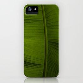Tropical Leaf Closeup iPhone Case