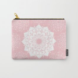 Pink Background Mandala Carry-All Pouch