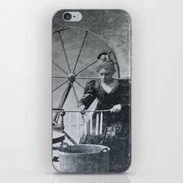 Antique candle making iPhone Skin