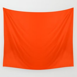 Tangy Solid Orange Pop Wall Tapestry
