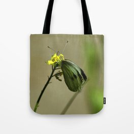 Green Winged Fairy Butterfly Tote Bag