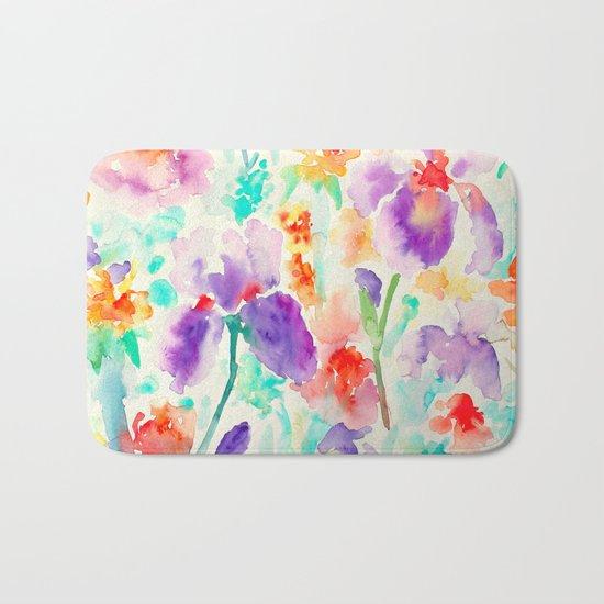 Abstract Flowers 03 Bath Mat
