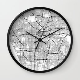 Minimal City Maps - Map Of Los Angeles, California, United States Wall Clock
