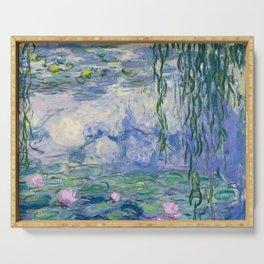 """Claude Monet """"Water Lilies(Nymphéas)"""" (9) 1916–19.jpg Serving Tray"""