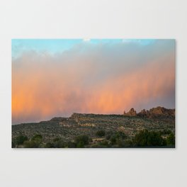Dramatic Desert Sunset at Arches Canvas Print