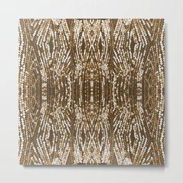 198 - Sepia gold sequins design Metal Print