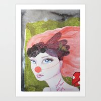 I support Red Nose Day Art Print