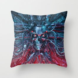 Heavy Metal Mind Throw Pillow