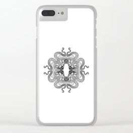 Quadruple Dragon Clear iPhone Case