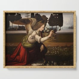 """Leonardo da Vinci """"Annunciation 1. (Archangel Gabriel)"""" Serving Tray"""