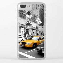 NYC Yellow Cabs Avenue - USA Clear iPhone Case