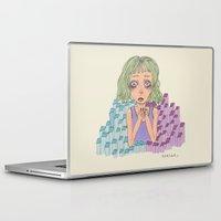fear Laptop & iPad Skins featuring Fear by Kassia M. K.