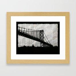 News Feed , Newspaper Bridge Collage Framed Art Print