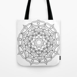Mandala black 2 Tote Bag