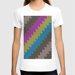 Colorful Zigzag Pattern T-shirt