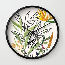 Spring Garden IV Wall Clock