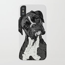 Black and White Boxer iPhone Case