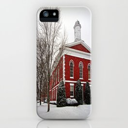 Iron County Courthouse in the Snow iPhone Case