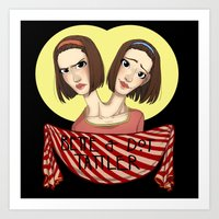 ahs Art Prints featuring AHS Twins by Raygor