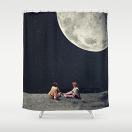 I Gave You the Moon for a Smile Shower Curtain