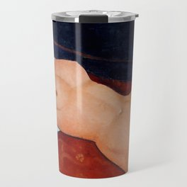 "Amedeo Modigliani ""Female Nude Reclining on a Blue Pillow"" Travel Mug"