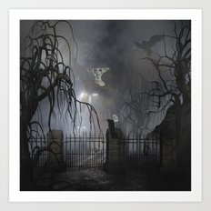 Darkness Comes Miss Piggy Returns Art Print
