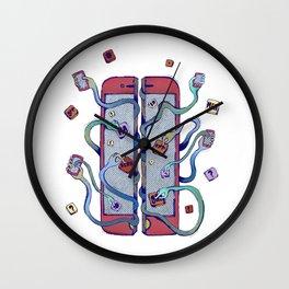 Handsy Smart Phone by Maisie Cross Wall Clock