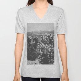 Chollo Cactus Garden (Black + White) Unisex V-Neck