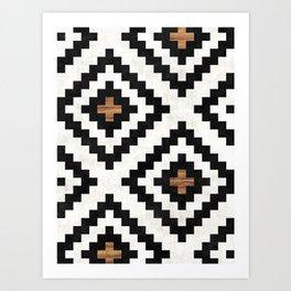 Urban Tribal Pattern No.16 - Aztec - Concrete and Wood Art Print