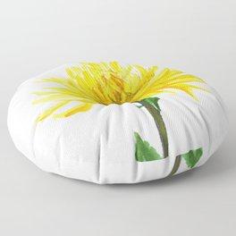 one yellow chrysanthemum Floor Pillow