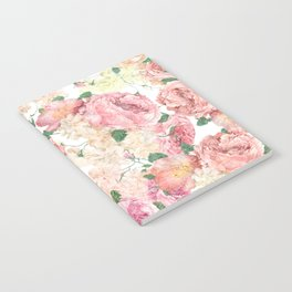 Flowers, Floral Explosion, Floral Pattern, Pink Flowers Notebook