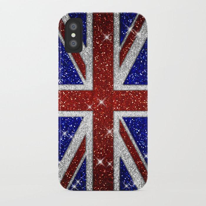 Glitters shiny sparkle union jack flag iphone case by - Decor union 2000 ...