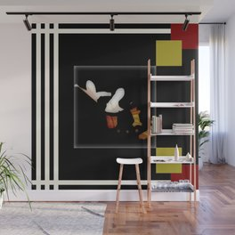 BLACK and WHITE, modern ABSTRACT Wall Mural